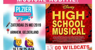 Plzier Entertainment houdt audities voor High School Musical